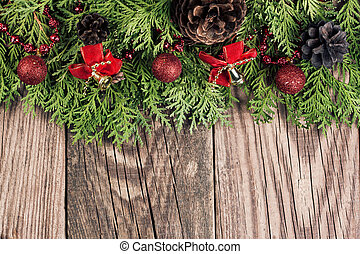 樅樹, 分支, 木制, 樹, 裝飾, 背景, 聖誕節