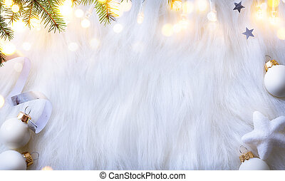 樅樹, 分支, 背景, 套間, 光, 位置, 樹, 假期, 裝飾, 作品, 白色, 看法, 頂部, 聖誕節