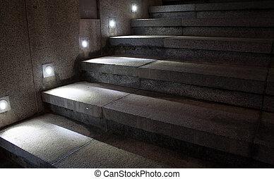 樓梯, 照明