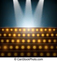 樓梯, 聚光燈, stage., 照明