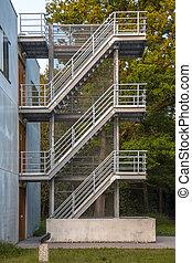 樓梯, 鐵, 緊急事件, 逃跑