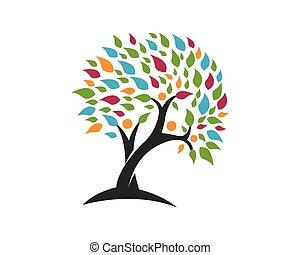 標識語, 樹, 樣板
