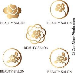 標識語, 為, 美容院, 礦泉, 沙龍, 美麗, 商店