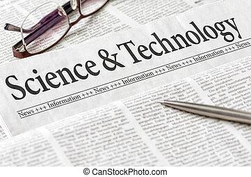 標題, 科學, 報紙, 技術