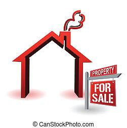 模型, 房子, 家, 销售