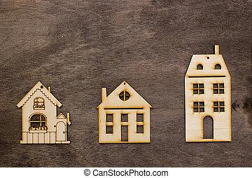 模型, ......的, 房子, 由于, 不同, 數字, ......的, 樓層