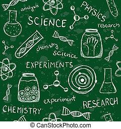 模式, 学校, 板, seamless, 科学