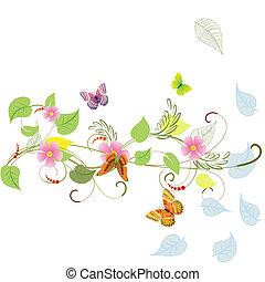 模式, 植物, 夏天