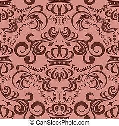 模式, seamless, 粉红色, 摘要