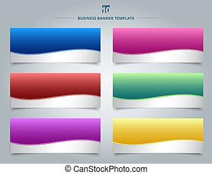 模板, 网, 集合, 藍色, 事務, 紫色, 坡度, 摘要, 圖表, 線, 波浪, 背景。, 黃色, 設計, 條紋, 綠色紅, 旗幟顏色, 粉紅色