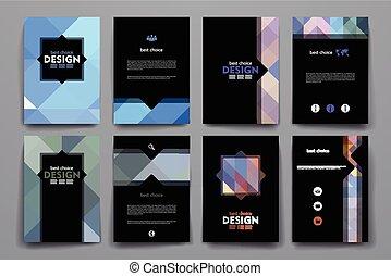 模板, 風格, 集合, 海報, 摘要設計, 小冊子