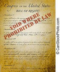 """権利章典, """"voided, によって, law"""""""