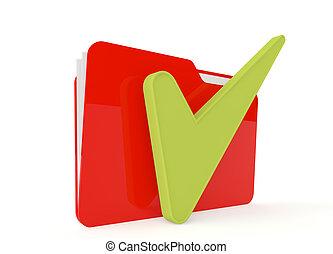権利, イメージ, 印, ファイルフォルダー, 赤, 3d
