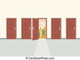 権利, ドア, 富, 選択