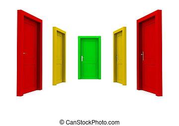 権利, ドア, 選びなさい