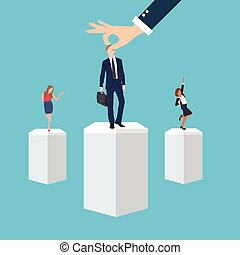 権利, ビジネス, プロセス, 志願者, 労働者, 求人, 管理, 場所, ポジション, 従業員, の間, 選り抜き, 人