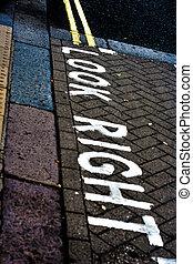 権利, ロンドン, 通り, 見なさい