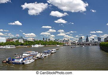 横切って, 川, ロンドン, thames