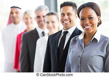 横列, グループ, ビジネス 人々