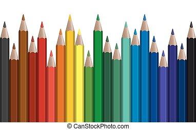 横列, ペン, 有色人種, seamless