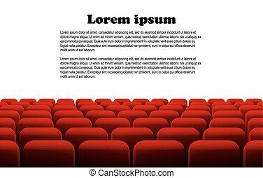 横列, 劇場, 映画館, 席, ∥あるいは∥, 赤