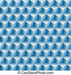 横列, 立方体, 抽象的, 光学, 背景, 錯覚