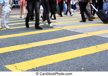 横断歩道, そして, 歩行者