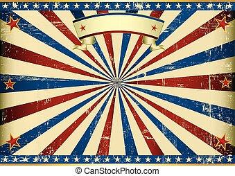 横, アメリカ人, 背景, textured