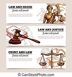 横, 法律, 旗