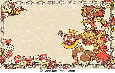横, 背景, スタイル, aztec