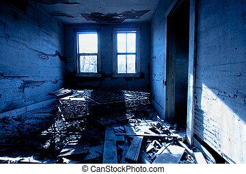 横, 部屋, trashed