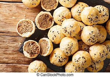 横, tau, 珍味, 砂糖, 両方とも, 作られた, 上, 緑, 形態, penang, sar, 光景, 小麦, ...
