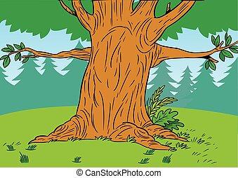 樹森林, 卡通