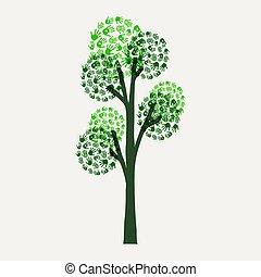 樹, 插圖, 手, 環境, 印刷品, 原因