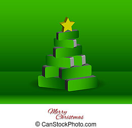 樹, -, 聖誕節, 3d