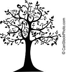 樹, 黑色半面畫像, 插圖