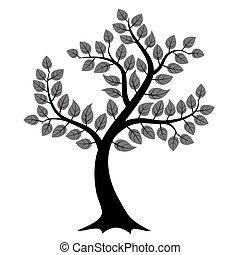 樹, 黑色半面畫像
