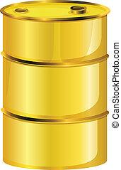 樽, オイル, 黄色