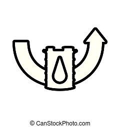 樽, ガソリン, 上向き矢印