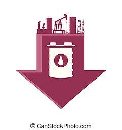 樽, ガソリン, 工場, 矢