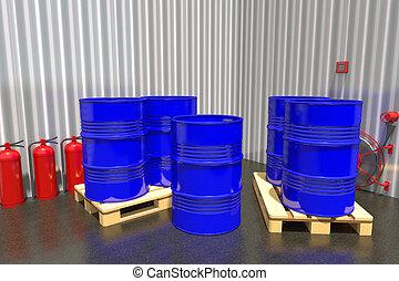 樽, パレット, 産業, 燃料, warehouse.