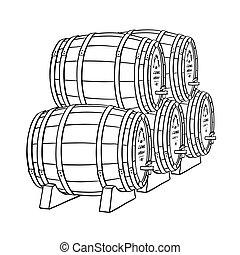 樽, ビール, ∥あるいは∥, ワイン