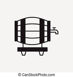 樽, ワイン, アイコン