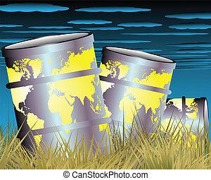 樽, 乾きなさい, オイル, 草