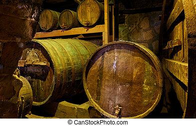 樽, 古い, ワイン