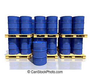 樽, 産業, パレット, warehous, 燃料, 山