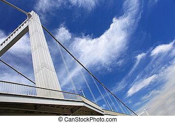 橋梁, 布達佩斯, 天空, 城市