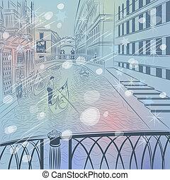 橋梁, 略述, 冬天, 顏色, 威尼斯, 嘆息, 聖誕節, 風景