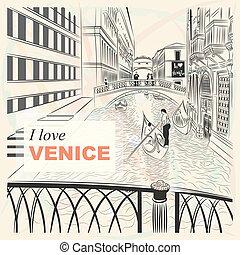 橋梁, 略述, 威尼斯, 嘆息, 矢量, 風景