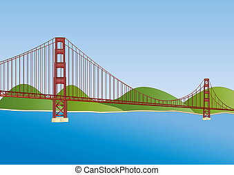 橋梁, francisco, san, 門, 黃金